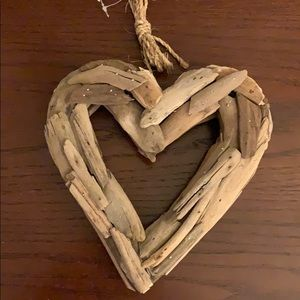 Wooden heart made from driftwood